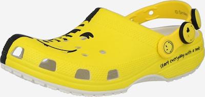 Saboţi 'Classic Smiley 2' Crocs pe galben citron / negru, Vizualizare produs