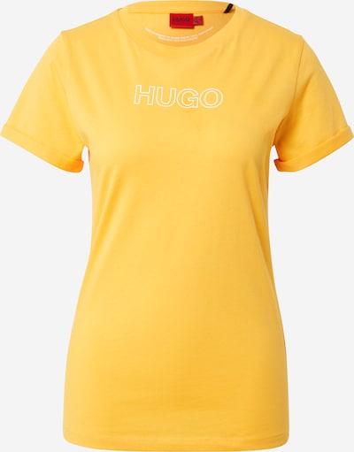HUGO Shirt in de kleur Geel / Wit, Productweergave
