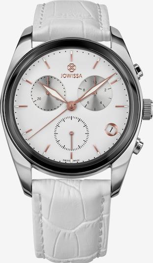 JOWISSA Analoog horloge 'Lux Swiss Made' in de kleur Wit / Natuurwit: Vooraanzicht