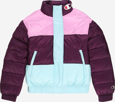 Champion Authentic Athletic Apparel Jacke in hellblau / rosa / burgunder, Produktansicht