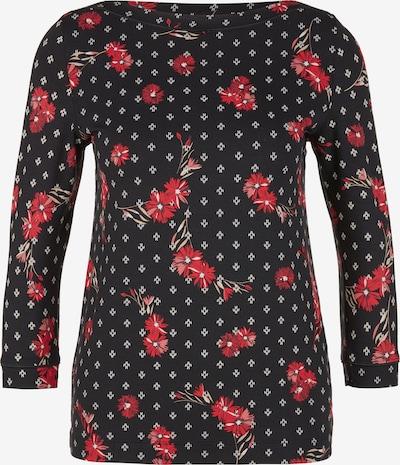 s.Oliver Shirt in rot / schwarz / weiß, Produktansicht