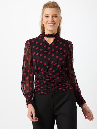 Dorothy Perkins Bluse in rot / schwarz, Modelansicht
