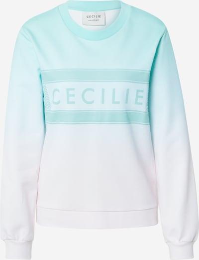 Cecilie Copenhagen Sweatshirt 'Manila Rainbow' in Turquoise / White, Item view