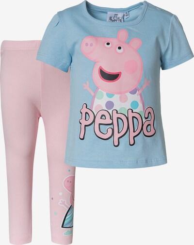 Peppa Pig T-Shirt und Leggings Set in hellblau / rosa, Produktansicht