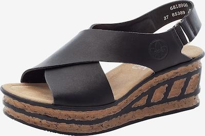 RIEKER Remienkové sandále - svetlohnedá / čierna, Produkt