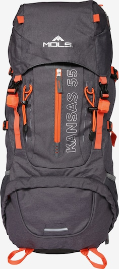 Mols Rucksack 'Banes Kansas 55' in dunkelgrau, Produktansicht