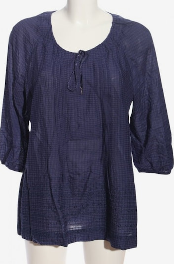 B&C Schlupf-Bluse in 4XL in blau, Produktansicht