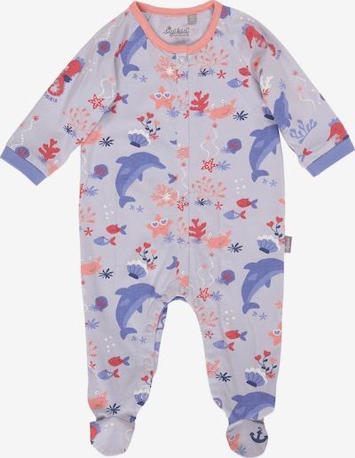 SIGIKID Schlafanzug in hellblau / dunkelblau / lachs / pastellrot, Produktansicht