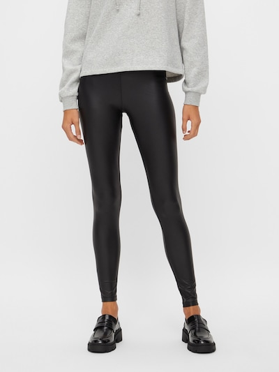 PIECES Leggings 'PCNEW SHINY LEGGINGS NOOS' in Black, View model