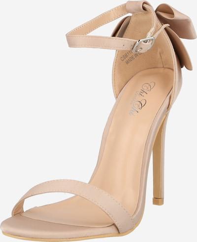 Sandale cu baretă Chi Chi London pe șampanie, Vizualizare produs