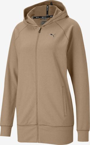 PUMA Athletic Zip-Up Hoodie in Brown