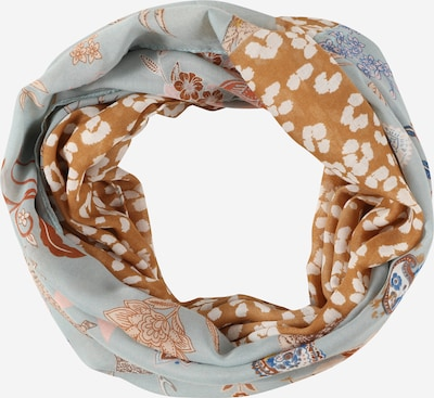 CODELLO Scarf in Cream / Royal blue / Light blue / Light brown / yellow gold, Item view