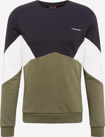 Bluză de molton 'TRIPL' Ragwear pe oliv / negru / alb, Vizualizare produs