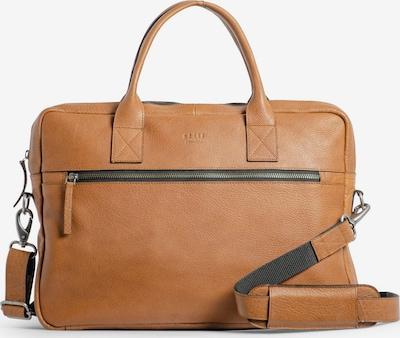 still Nordic Aktentas 'Clean Brief' in de kleur Cognac, Productweergave