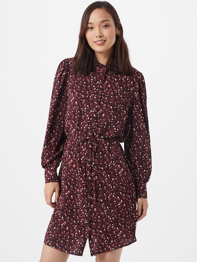 JACQUELINE de YONG Shirt dress 'MILO' in dark red / black / white, View model