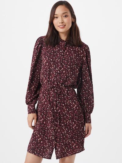 JACQUELINE de YONG Kleid 'MILO' in dunkelrot / schwarz / weiß, Modelansicht