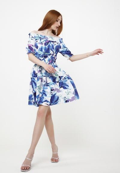 Madam-T Sommerkleid 'NAPOLI' in blau / weiß, Modelansicht