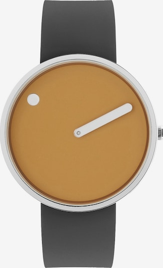 Picto Uhr in gelb / dunkelgrau / silber, Produktansicht