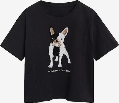 MANGO KIDS T-Shirt in braun / schwarz / weiß, Produktansicht