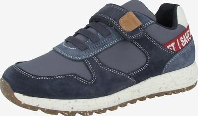 GEOX Sneaker in blau / braun / grau / rot / weiß, Produktansicht