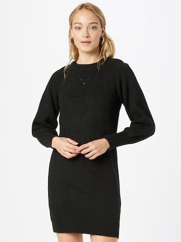 NAF NAF Gebreide jurk 'FINLAND' in Zwart