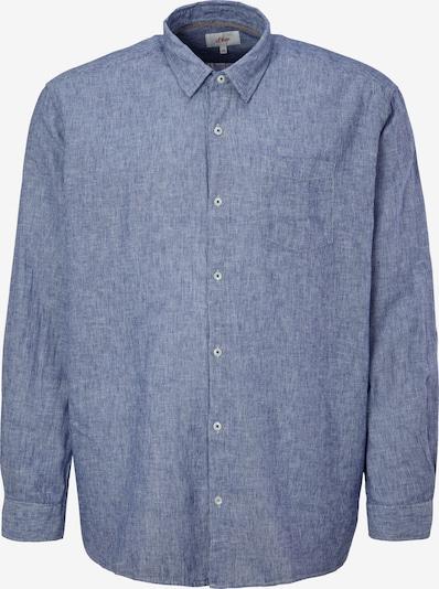 s.Oliver Overhemd in de kleur Blauw: Vooraanzicht