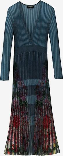 Desigual Robes en maille en bleu ciel / mélange de couleurs, Vue avec produit