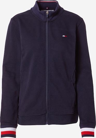 Bluză cu fermoar sport Tommy Sport pe albastru închis / roșu / alb, Vizualizare produs