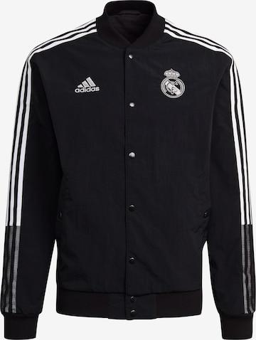 Veste de sport 'Real Madrid' ADIDAS PERFORMANCE en noir