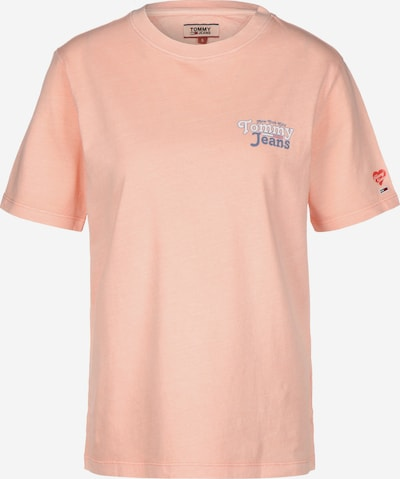 Tommy Jeans T-Shirt 'Summer ' in navy / gelb / pastellpink / rot / weiß: Frontalansicht