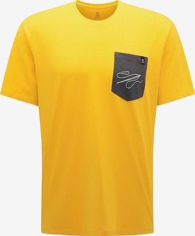 Haglöfs Functioneel shirt 'Mirth' in de kleur Geel / Grijs / Wit, Productweergave