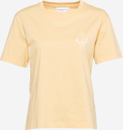 Hafendieb T-Shirt 'Retter' in hellgelb / weiß, Produktansicht