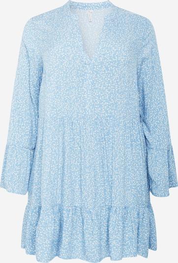 ONLY Carmakoma Jurk 'Lolli' in de kleur Lichtblauw / Wit, Productweergave