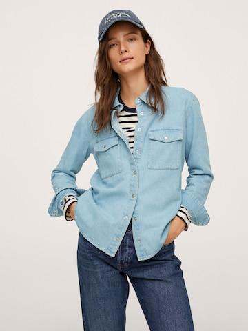 MANGO Блуза 'JULIE' в синьо