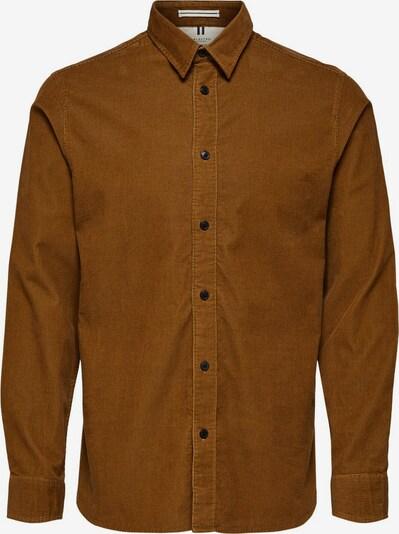 SELECTED HOMME Hemd in karamell, Produktansicht