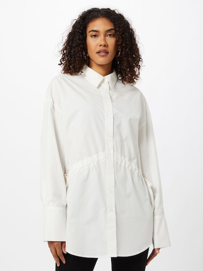 NA-KD Bluse in weiß, Modelansicht