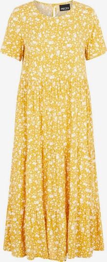 PIECES Kleid in gold / weiß, Produktansicht