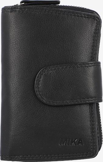 MIKA Geldbörse Leder 8 cm in schwarz, Produktansicht