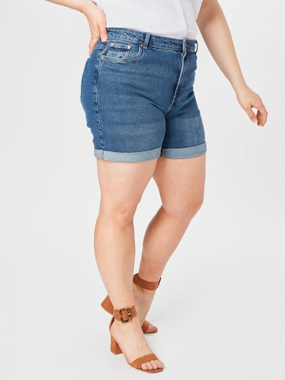 Vero Moda Curve Jeans 'VMJOANA' in de kleur Donkerblauw, Modelweergave