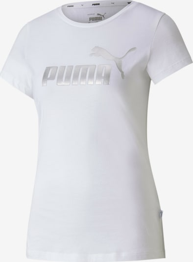 PUMA Functioneel shirt in de kleur Zilver / Wit, Productweergave