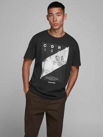 JACK & JONES Shirt in de kleur Zwart / Wit: Vooraanzicht