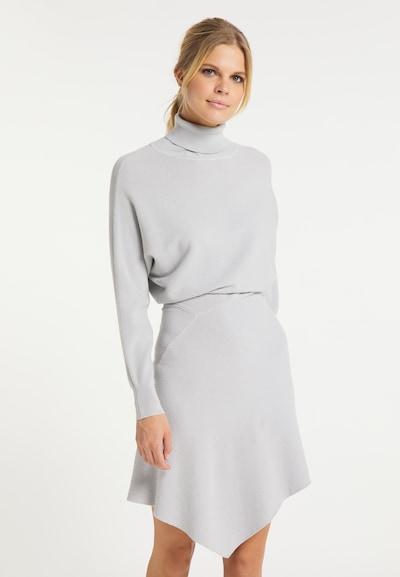 usha WHITE LABEL Strickkleid in silber, Modelansicht