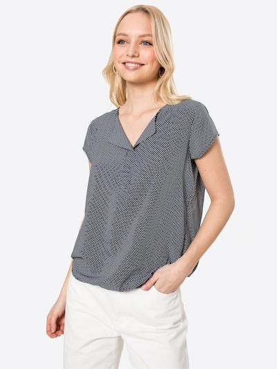 Bluză TOM TAILOR pe bleumarin / alb, Vizualizare model