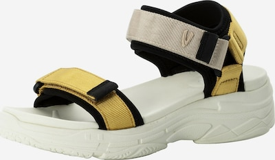 CAMEL ACTIVE Sandale in nude / dunkelgelb / schwarz, Produktansicht