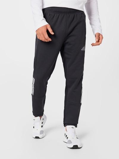 ADIDAS PERFORMANCE Спортен панталон в черно / бяло: Изглед отпред