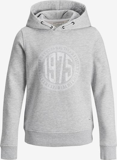 Produkt Sweatshirt in graumeliert / weiß, Produktansicht