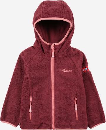 TROLLKIDSFlis jakna 'Mandal' - crvena boja