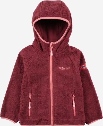 Jachetă  fleece 'Mandal' TROLLKIDS pe roz deschis / roşu închis, Vizualizare produs