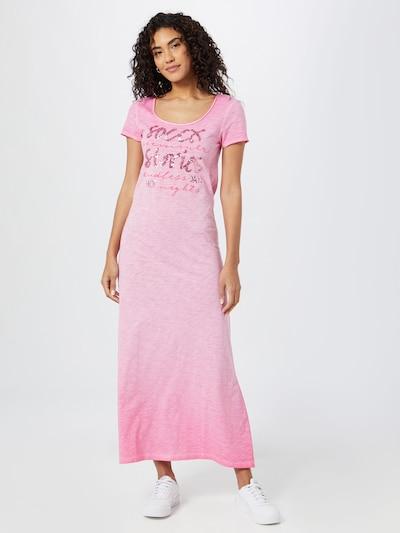 Soccx Robe en fuchsia / rose ancienne / rose chiné, Vue avec modèle