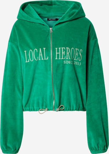 LOCAL HEROES Sweatjacke in beige / grün, Produktansicht